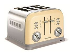 Morphy Richards - 4 Slice Toaster - Cream