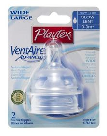 Playtex - Ventaire Advanced Wide Silicone Slow Flow Teat