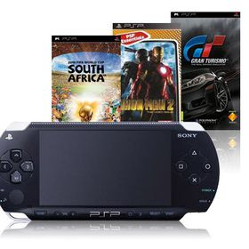 PSP Console E1000 Series Black + GT + Killzone + FIFA World Cup (PSP)