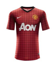 Mens Nike Manchester United 2012/2013 Home Replica Jersey