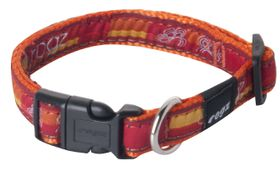 Rogz Fancy Dress Small Jellybean Dog Collar - Tangerine