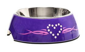Rogz - Dog Bubble Bowl 2-in-1 - Medium 350ml - Purple