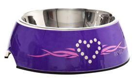 Rogz - Dog Bubble Bowl 2-in-1 - Large 700ml - Purple