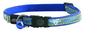 Rogz Nightcat Breakaway Reflective Cat Collar - Blue