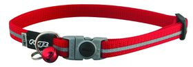 Rogz - Alleycat Reflective Breakaway Collar - Red