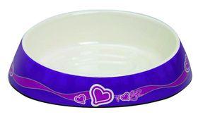Rogz Fishcake Melamine Cat Bowl - Purple