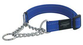 Rogz - Utility Medium Snake Dog Check Collar - Blue