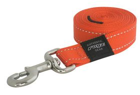Rogz Utility Medium Snake Dog Fixed Lead - Orange