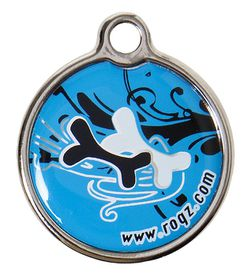Rogz - Small Metal Dog ID Tag - Turquoise