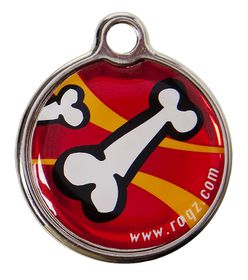 Rogz - Small Metal Dog ID Tag - Red
