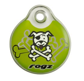 Rogz - Self-Customisable Large Resin ID Tag - Lime