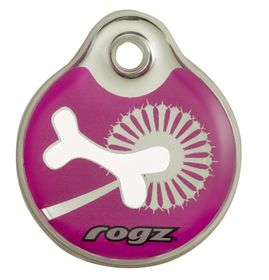 Rogz - Self-Customisable Large Resin ID Tag - Pink