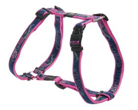 Rogz - Fancy Dress Large Beachbum Dog H-Harness - Navy & Pink