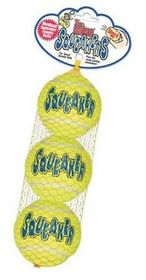 Kong -  Dog Toy Airdog Squeakair Tennis Ball 3 Pack - Medium - Yellow