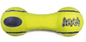 Kong Dog Toy AirDog Squeaker Dumbbell - Small Yellow