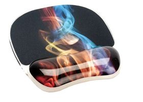 Fellowes Photo Gel Mouse Pad Wrist Support - Rainbow Smoke
