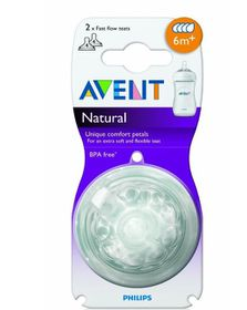 Avent - Natural Feeding Fast Flow Teat - 2 Pack