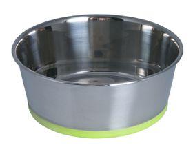 Rogz - Stainless Steel Slurp Dog Bowl - Small 550ml - Lime Base