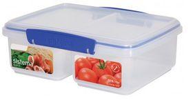 Klip It - 2L Split Rectangular Food Storage Container - (233mm x 175mm x 81mm)