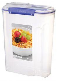 Sistema - Klip It 4.2L Cereal Storage Container - 216 mm x 116 mm x 285 mm