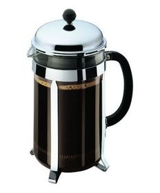 Bodum - Chambord Coffee Maker 8 Cup - Stainless Steel and Glass