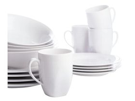 Maxwell and Williams - White Basics Soho - 16 Piece Dinner Set