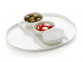 Maxwell and Williams White Basics 4 Piece Oslo Dipping Set