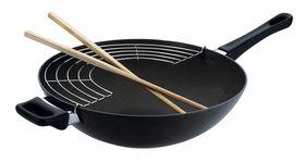 Scanpan - Classic Wok With Rack + Sticks - 36 cm