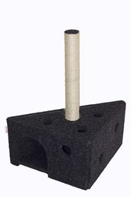 Scratzme - Cheezy Scratching Post - Grey & Charcoal