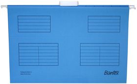 Bantex Suspension File Foolscap Retail Pack - Cobalt Blue (Pack of 10)
