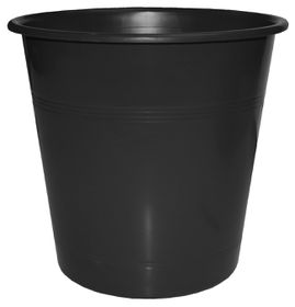 Bantex Waste Paper Bin 10 Litre Round - Black