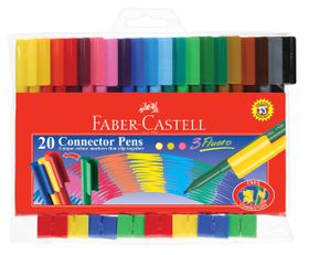 Faber-Castell Connector Pens (Pack of 20 Pens)