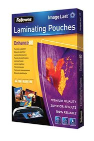 Fellowes Enhance80 A4 80micron Gloss Laminating Pouches (100 Pack)
