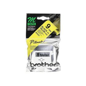 Brother M-K621 9mm x 8m Black on Yellow Non-Laminated Tape