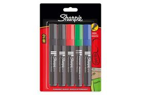Sharpie W10 Chisel Permanent Marker - Assorted (Carded 5's)