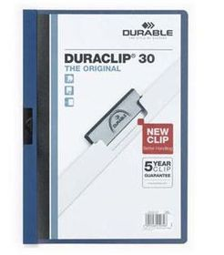 Durable Duraclip 30 Page Folder - Navy