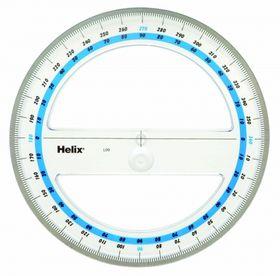 Helix Protractor 360 Degrees - 15cm