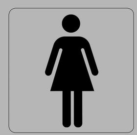 Tower Aluminium Sign - Ladies Toilet