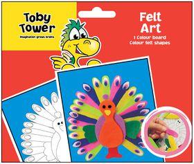 Toby Tower Felt Art - Peacock