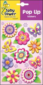 Toby Tower Pop Up Stickers - Flowers 2