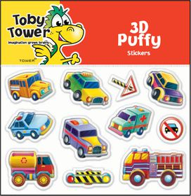 Toby Tower Puffy Stickers - Construction 2