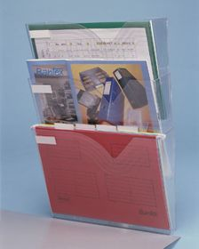 Bantex Vision Wall Pocket Organiser - Clear (A4 Landscape)