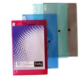 Croxley Foolscap Document Envelope- Assorted Colours - 5 Pack