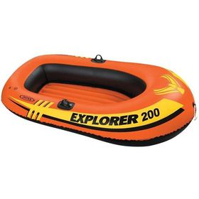 Intex - Explorer 200 Boat - 2 Person Boat Set - Orange