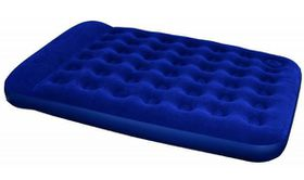 Bestway - Inflate Queen Flocked Airbed - Blue