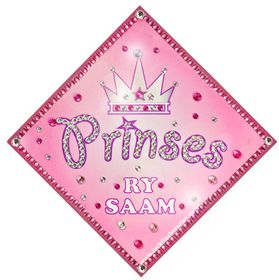Jackflash - Baby On Board Sign - *BLING* - Princess Crown ( Afrikaans)