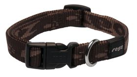 Rogz Medium Alpinist Matterhorn Dog Collar - 16mm Chocolate