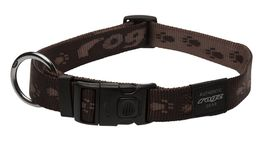 Rogz Extra-Large Alpinist Everest Dog Collar - 25mm Chocolate