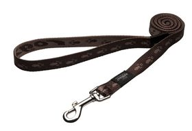 Rogz Large Alpinist K2 Fixed Dog Lead - 20mm Chocolate