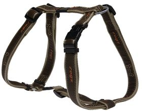 Rogz Fancy Dress Armed Response Dog H-Harness Extra Large - 25mm Bronze Bone